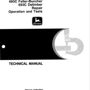 John Deere 690C and 693C Excavator Technical Manual TM-1323 & TM-1329
