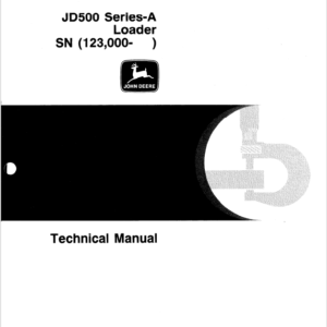 John Deere 500A Loader Service Manual TM-1025