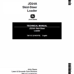 John Deere 24A Skid-Steer Loader Technical Manual TM-1157
