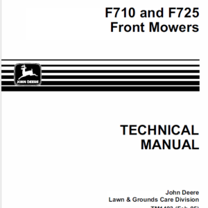 John Deere F710, F725 Front Mower Technical Manual TM-1493