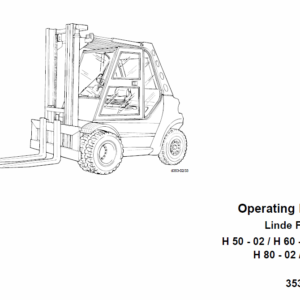 Linde Type 353 Forklift Truck: H50, H60, H70, H80 Repair Service Training Manual