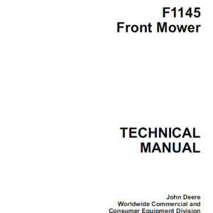 John Deere F1145 Front Mower Technical Manual TM-1519