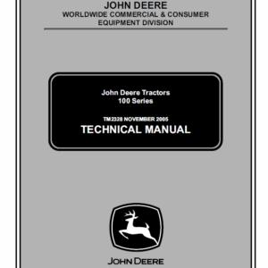 John Deere 100 series 102, 115, 125, 135, 145, 155C, 190C Lawn Tractor Manual