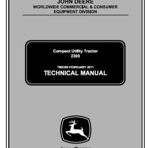 John Deere 2305 Compact Tractor Service Manual