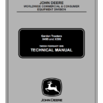 John Deere X495 and X595 Garden Tractors Service Manual TM-2024