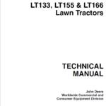 John Deere LT133, LT155, LT166 Lawn Tractor Service Manual TM-1695