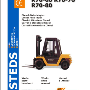 Still Electric Fork Truck R70: R70-60, R70-70, R70-80 Repair Circuit Workshop Operating Manual