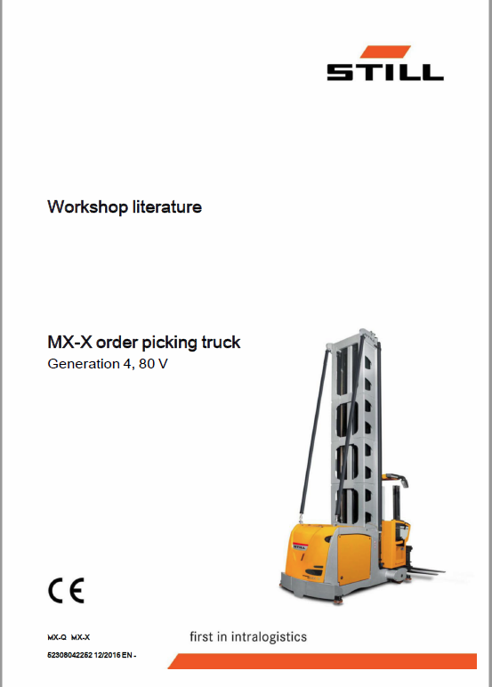 Still MX-X Order Picking Truck Generation 4, 48v and 80v Workshop Repair Manual