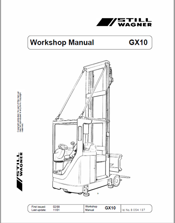 Still GX10 Order Picking Stacker Trucks Workshop Repair Manual