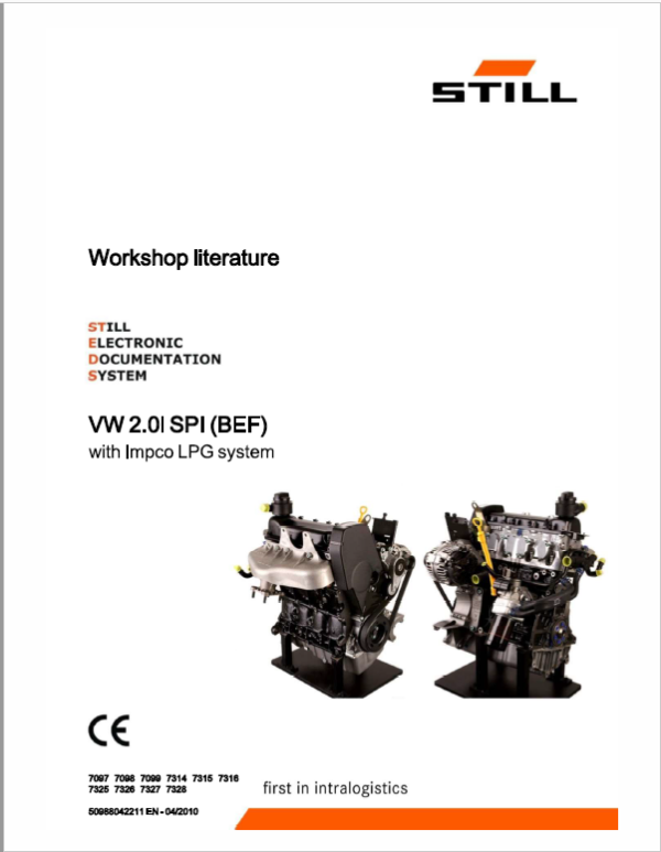 Still Engine VW 2.0i SPI (BEF) with Impco LPG System Repair Manual