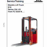 Linde Type 334 Electric Forklift Truck: E10 Workshop Manual