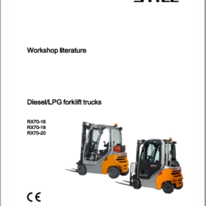 Still Electric Forklift Truck RX70: RX70-16, RX70-18, RX70-20 Repair Manual