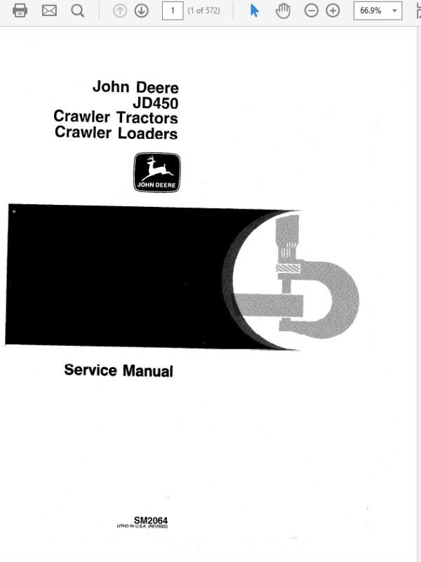 John Deere 450 Crawler Tractor and Loaders Service Manual SM-2064