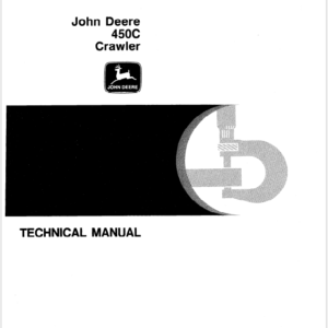 John Deere 450C Crawler Service Manual TM-1102