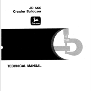 John Deere 550 Crawler Bulldozer Service Manual TM-1108
