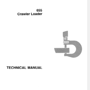 John Deere 655 Crawler Loader Service Manual TM-1250