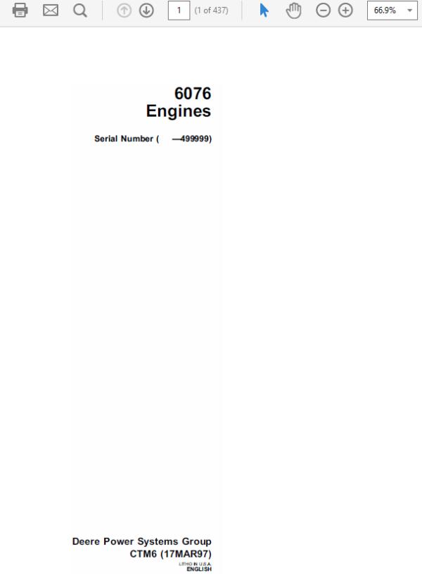 John Deere 6079 Engines CTM6 Repair Manual