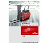 Linde Type 1313 CT Series Forklift Truck: H25CT, H27CT, H30CT, H32CT Repair Service Manual