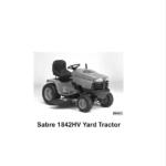 John Deere Sabre Yard Tractors 1842GV & 1842HV Service Manual
