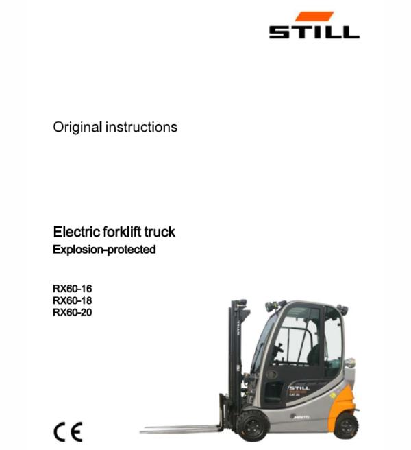 Still Electric Forklift Truck RX60: RX60-16, RX60-18, RX60-20 Repair Manual