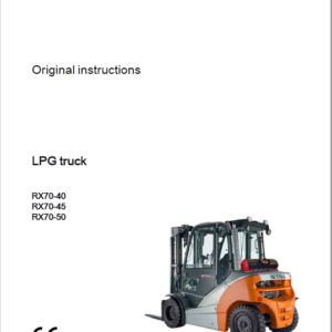 Still Electric Forklift Truck RX70: RX70-40, RX70-45, RX70-50 Repair Manual