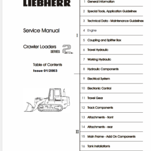 Liebherr Crawler Dozers Series 2 Service Manual TM-1945 & TM-1946