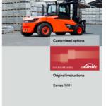 Linde Series 1401 IC-Truck Series: H100, H120, H140, H150, H160 Repair Service Manual