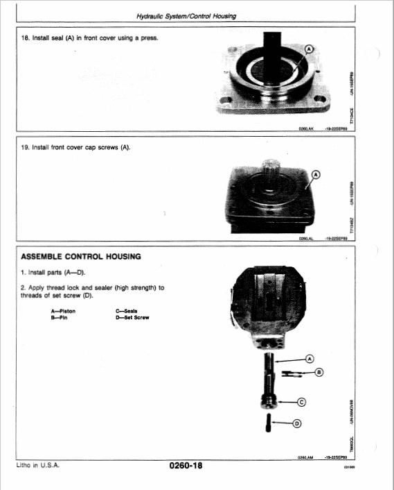John Deere 690DR Excavator Service Manual TMT124557