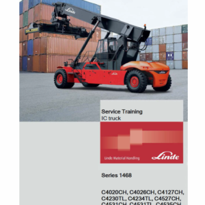 Linde Series 1468 Reachstacker : C4020-4535CH, C4230-4540TL Workshop Training Manual