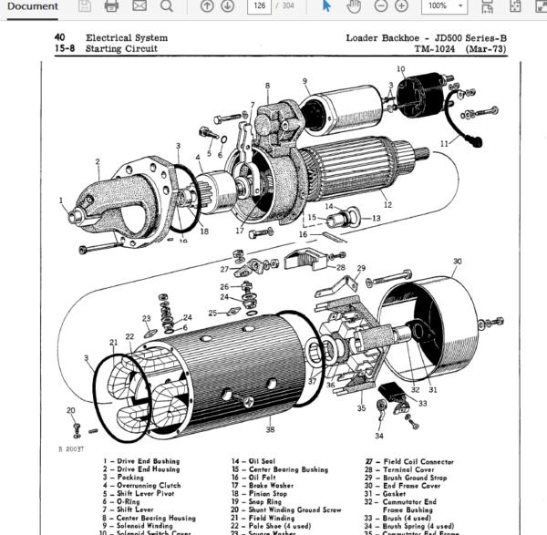 John Deere 500B Loader Backhoe Service Manual TM-1024