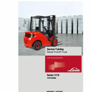 Linde Series 1218 Forklift Truck: HT25D, HT30D Repair Service Training Manual