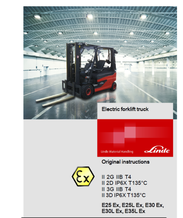 Linde Series 387 Electric Lift Truck: E20, E25, E30, E35 Workshop Service Manual