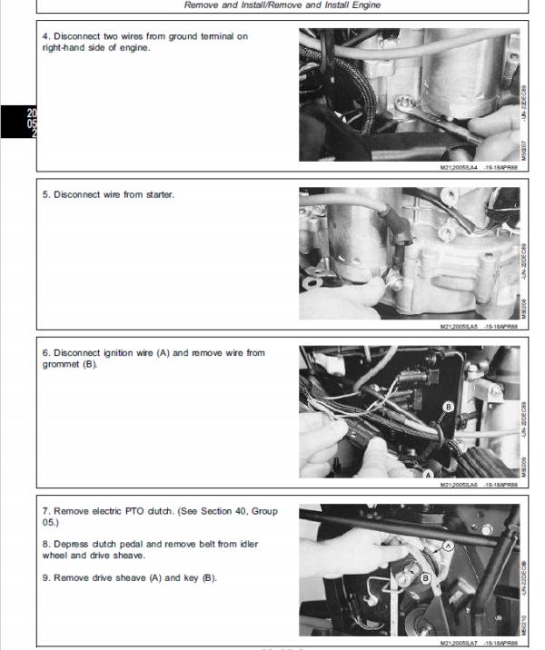 John Deere 130, 160, 165, 175, 180, 185 Lawn Tractors Service Manual