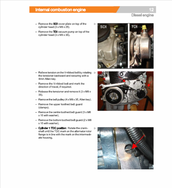 Still Engine VW 1.9 SDI (BXT,BEU) Workshop Repair Manual