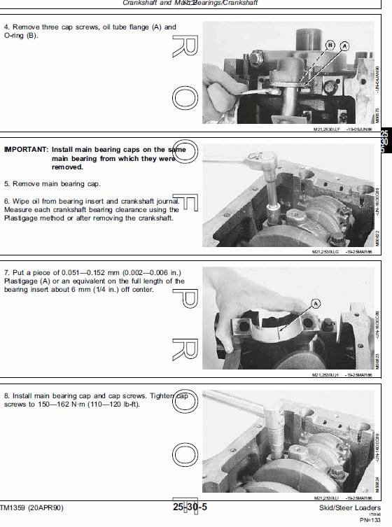 John Deere 570, 575, 375 Skid-Steer Loader Service Manual TM-1359