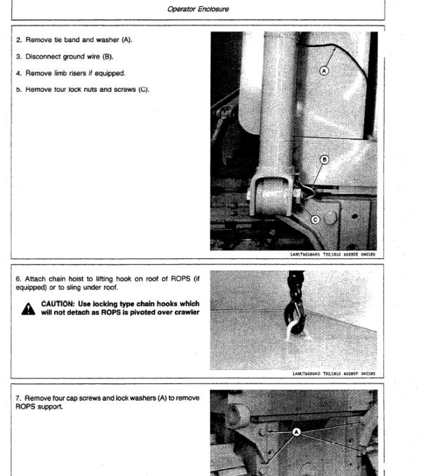 John Deere 550B, 555B Crawler Bulldozer Loader Service Manual