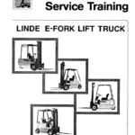 Linde Type 322, 323, 324 Forklift Model: E10, E12, E14, E15, E16, E20, E25, E30 Workshop Service Manual