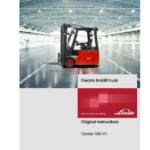 Linde Series 386 Electric Forklift Truck: E12, E14, E15, E16, E18, E20 Workshop Manual