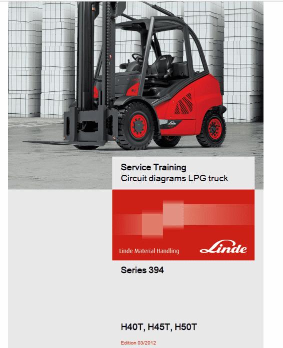 Linde 394 Forklift Truck H-Series: H40, H45, H50 Service Training (Workshop) Manual