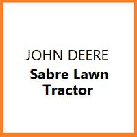 Sabre Lawn Tractor