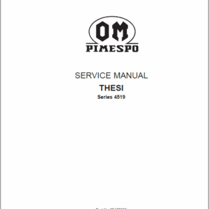 OM PIMESPO Thesi Series 4519 Reach Trucks Workshop Repair Manual