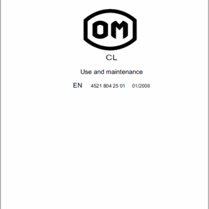 OM PIMESPO TL Series 4520 , CL Series 4521 and Series 4559 Workshop Repair Manual