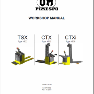 OM Pimespo TSX, CTX and CTXi Pallet Stacker Workshop Repair Manual