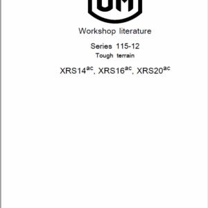 OM Pimespo XRS14ac, XRS16ac, XRS20ac Electric Reach Trucks Workshop Repair Manual