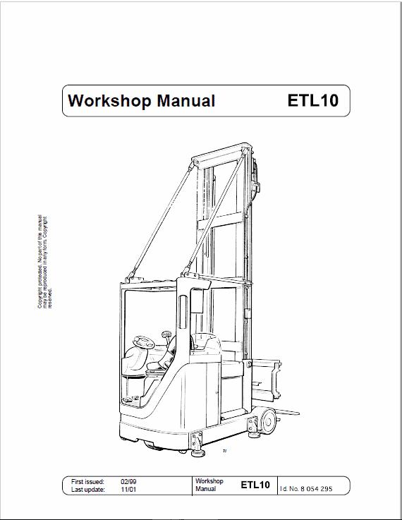OM Pimespo ETL10 Forklift Workshop Manual