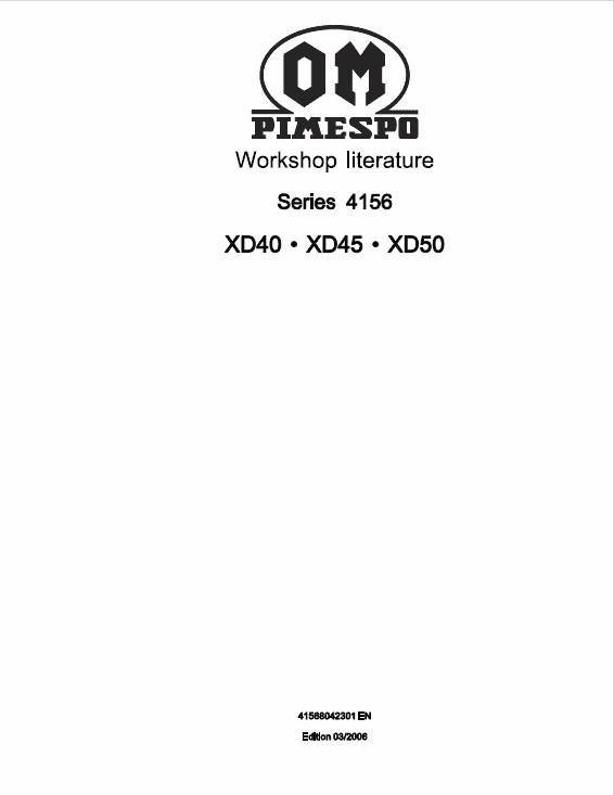 OM Pimespo XD40, XD45 and XD50