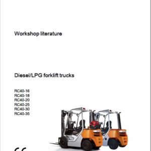 Still Diesel LPG Forklift Trucks RC40: RC40-25, RC40-30, RC40-35