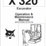 Bobcat X320, and X322 Excavator Service Manual