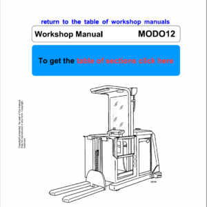 OM PIMESPO Modo 12 Order Picker Workshop Repair Manual