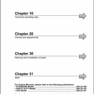 OM Pimespo XD25 and XD30 Forklift Workshop Manual